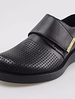 Men's Oxfords Comfort Real Leather Spring Casual Comfort Black Flat