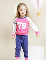 Girls' Going out Casual/Daily Solid Sets,Silk Spring Clothing Set