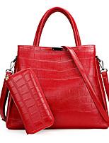 Women Shoulder Bag PU All Seasons Baguette Zipper Red Blushing Pink Black Pool