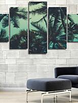 Impression d'Art A fleurs/Botanique Moderne,Cinq Panneaux Format Horizontal Imprimé Décoration murale For Décoration d'intérieur