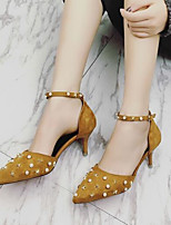 Women's Heels Comfort Nubuck leather PU Spring Casual Comfort Army Green Yellow Black Flat