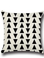 1 Pcs Black Triangle Stripe Printing Pillow Case Creative Design Pillow Cover Home Decor