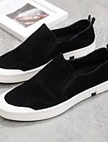 Men's Sneakers Comfort Suede Tulle Spring/Fall Casual Comfort Dark Blue Black Flat