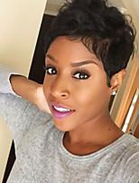 Refreshing Natural wavy Black Short Hair Human Hair Wigs For Woman