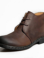 Men's Boots Gladiator Comfort Novelty Leather Fall Winter Outdoor Office & Career Athletic Casual Walking Combat Boots Lace-up Flat Heel