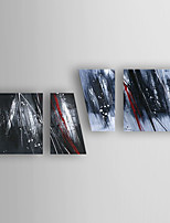 Hand-Painted 4pcs of Set  Abstract Canvas Oil Painting For Home Decoration Ready to Hang