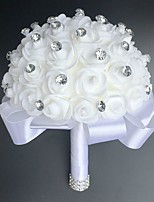 Wedding Flowers Round Roses Bouquets Wedding Party/ Evening Satin 9.84
