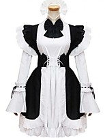 Women's Lolita Dress Cosplay Girl Dress Classic/Traditional Lolita Elegant Princess Cosplay Lolita Dress Fashion Long Sleeve Short / MiniTuxedo