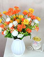 1 Une succursale Plastique Oeillets Fleur de Table Fleurs artificielles