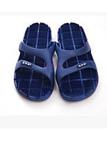 Для пары Сандалии Удобная обувь Резина Весна Повседневные Удобная обувь Черный Лиловый Синий На плоской подошве