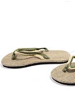 Masculino Chinelos e flip-flops Conforto Couro Ecológico Verão Casual Conforto Preto Vermelho Verde Rasteiro