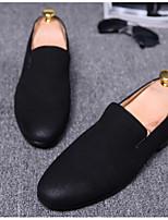 Men's Sneakers Comfort Pigskin Spring Casual Black Gray Blue Flat