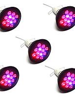 36W LED Grow Lights PAR38 12 High Power LED 1920 lm Red Blue AC85-265 V 5 pcs