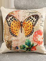 1 Pcs Classic European Style Butterfly Pillow Case Vinatge Sofa Pillow Cover Cotton/Linen