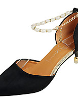 Women's Heels Comfort PU Summer Dress Work Stiletto Heel Camel Blushing Pink Black 1in-1 3/4in