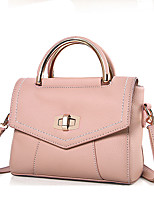 Women Tote PU All Seasons Formal Casual Event/Party Wedding Office & Career Flap Clasp Lock Gray Blushing Pink Black Green