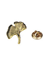 Women's Men's Brooches Ginkgo Leaf Design Euramerican Fashion Vintage Alloy Leaf Jewelry For Dailywear Casual Casual/Daily