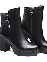 Women's Boots Comfort Microfibre Spring Casual Burgundy Gray Black Flat