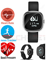 Women's Men's Blood Pressure Heart Rate Monitor Smart Bracelet Pedometer Sleep Fitness Tracker for Android IOS Smart Phones