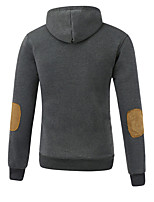 Men's Casual/Daily Sports Going out Hoodie Solid Turtleneck Micro-elastic Cotton Long Sleeve Spring Fall