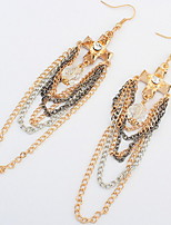 Women's Drop Earrings RhinestoneBasic Unique Design Tassel Friendship Africa USA Durable British Sexy Classic Elegant Fashion Vintage