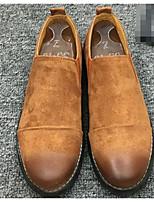 Men's Loafers & Slip-Ons Comfort Suede Spring Casual Black Light Brown Flat