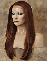 Natural Copper Red Front Lace Wig Heat Resistant Synthetic Hair Wigs  Straight Lace Front Wigs
