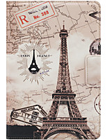 For Apple iPad Mini 3/2/1 Case Cover with Stand Auto Sleep / Wake Flip Magnetic Pattern Full Body Case Eiffel Tower Hard PU Leather