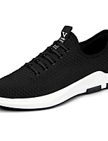 Men's Athletic Shoes Comfort PU Spring Fall Outdoor Comfort Flat Heel Black Black/Red Flat