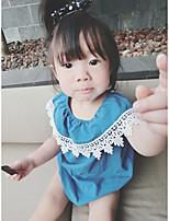 малыш 1 предмет Хлопок Мода Кружева Вышивка Лето С короткими рукавами