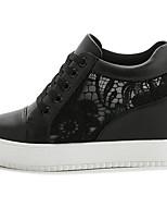 Da donna Sneakers Tulle Primavera Bianco Nero Schermo a colori Piatto