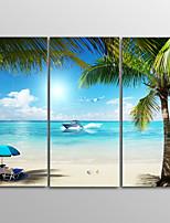 Tela de impressão Paisagem Realismo,3 Painéis Tela Horizontal Impressão artística Decoração de Parede For Decoração para casa