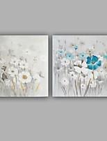 Ручная роспись Цветочные мотивы/ботанический 2 панели ХолстУкрашение дома