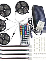 20M(4*5M) 5050 RGB 600 LEDs Strip Lights with 44Key IR Remote Controller Kit and 12V 10A EU/US/AU/UK Power Supp whit A set Mounting Bracket