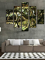 Art Print Floral/Botanical Pastoral,Five Panels Horizontal Print Wall Decor For Home Decoration