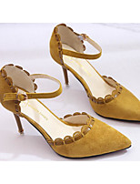 Women's Heels Comfort PU Spring Casual Light Brown Yellow Black Flat