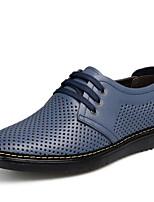 Men's Oxfords Comfort Tulle Spring Casual Comfort Black Brown Blue Flat