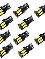 10pcs W5W T10/T4W BA9S Blackboard 10SMD 7020 Reading Lights Show Wide Lights White / Blue DC12V 2W