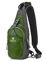 Unisex Sling Shoulder Bags Polyester All Seasons Sports Outdoor Messenger Zipper sky blue Lake blue Dark Green Fuchsia Light Green