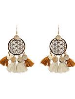 Women's Drop Earrings Jewelry Tassel Bohemian Personalized Fashion Linen/Cotton Blend Alloy Irregular Jewelry ForWedding Anniversary