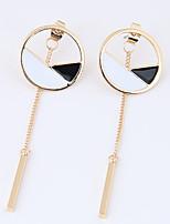 Women's Drop Earrings Euramerican Fashion Alloy Circle Geometric Jewelry For Daily Casual 1 Pair