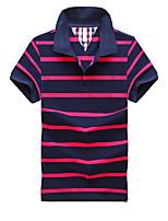 Для мужчин Другое Повседневные Спорт в свободное время Офис На каждый день Весна Лето Polo Рубашечный воротник,Простое Уличный стиль