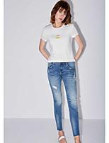 Tee-shirt Femme,Citations & Dictons Quotidien Décontracté simple Manches Courtes Col Arrondi Modal