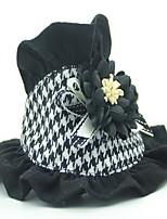 Cane Cravatta/Papillon Abbigliamento per cani Casual Formale Nero/Bianco