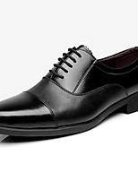 Для мужчин Туфли на шнуровке Формальная обувь Кожа Весна Осень Формальная обувь Черный 4,5 - 7 см