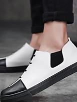 Для мужчин Туфли на шнуровке Удобная обувь Натуральная кожа Лето Повседневные Удобная обувь Золотой Белый Черный На плоской подошве