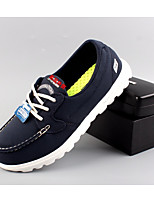 Men's Oxfords Comfort PU Spring Summer Casual Comfort Navy Blue Flat