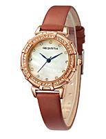 Женские Модные часы Китайский Кварцевый PU Группа Черный Белый Коричневый Серый Розовый
