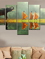 Art Print Religious,Five Panels Horizontal Print Wall Decor For Home Decoration