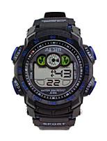 Мужской Спортивные часы электронные часы Китайский Цифровой Календарь Защита от влаги Хронометр Pезина Группа Черный